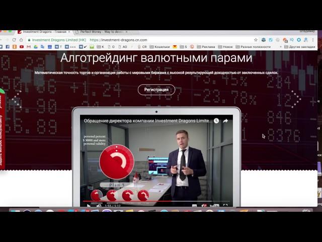 Обзор проекта investment dragons  Вклад 1000$