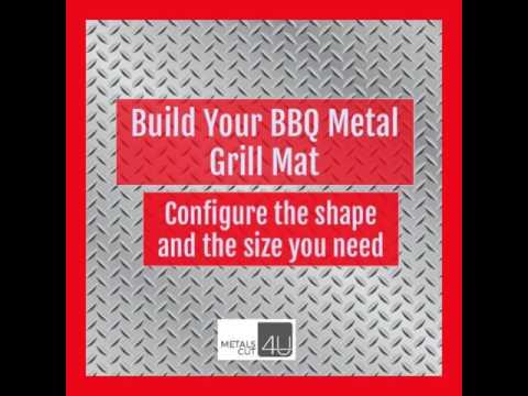 Metal grill mat custom made aluminum diamond plate