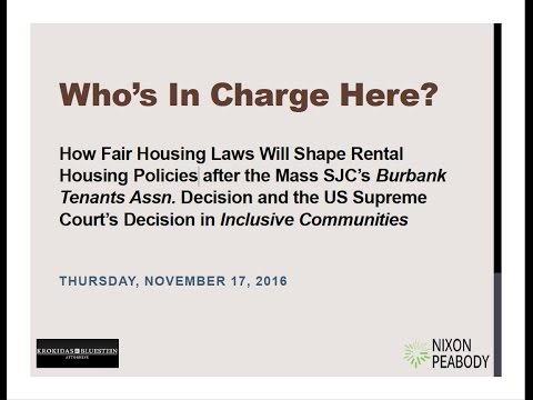 Who's in Charge Here? How Fair Housing Laws Will Shape Rental Housing Policies