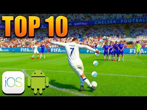 10 JEUX DE FOOTBALL SUR MOBILE COUPE DU MONDE | Top 10 Best Soccer World Cup Games Android IOS 2018