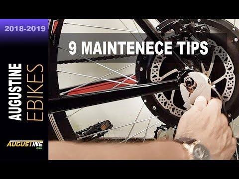Top 9 important maintenance tips for your electric bike!
