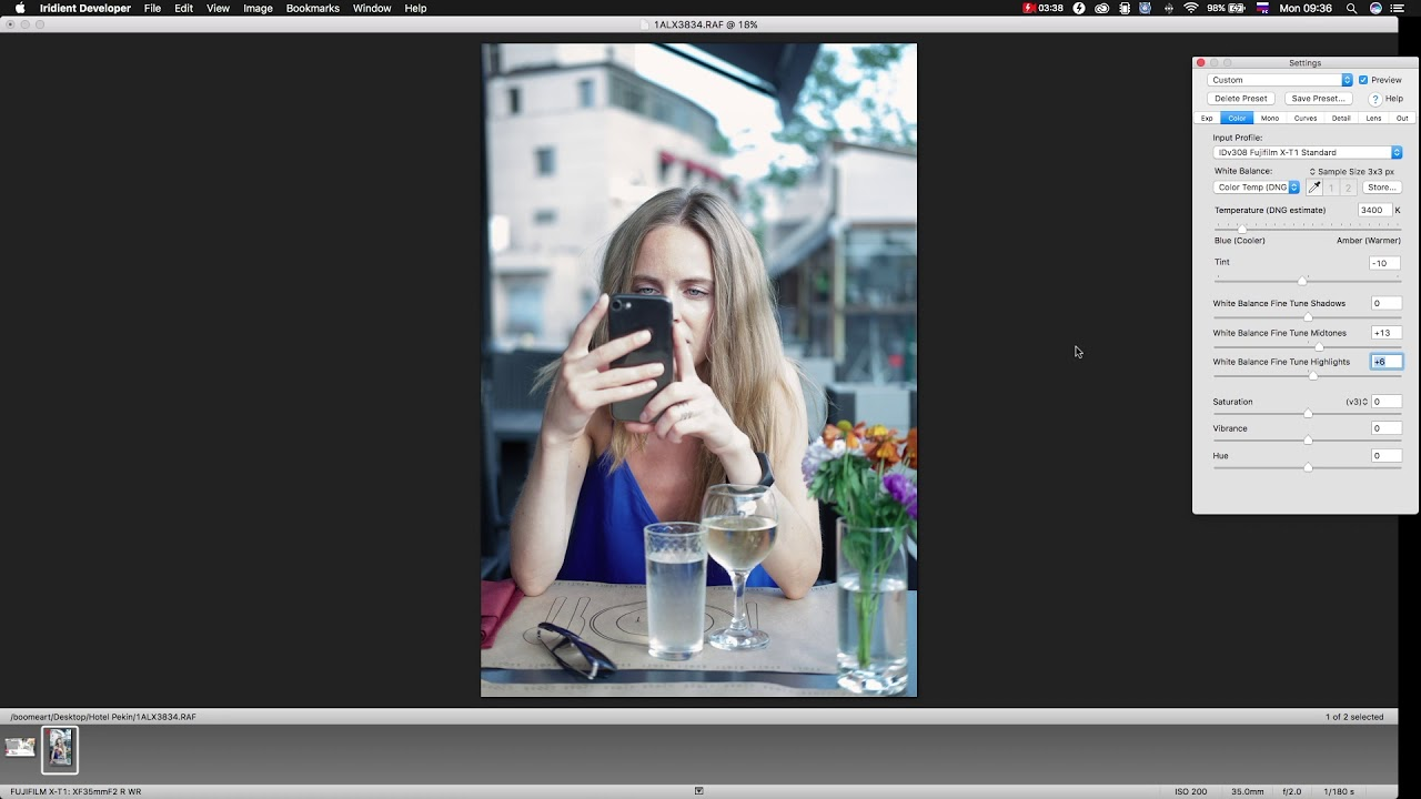Recovery of overexposed image in Iridient Developer RU