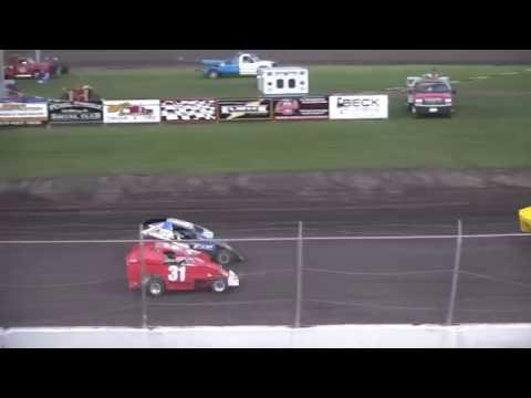 BCS Micro Mod Championship feature Benton County Speedway 9/18/16