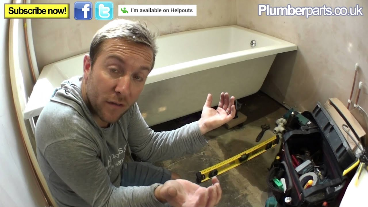 Charmant HOW TO INSTALL A BATH   Plumbing Tips   YouTube