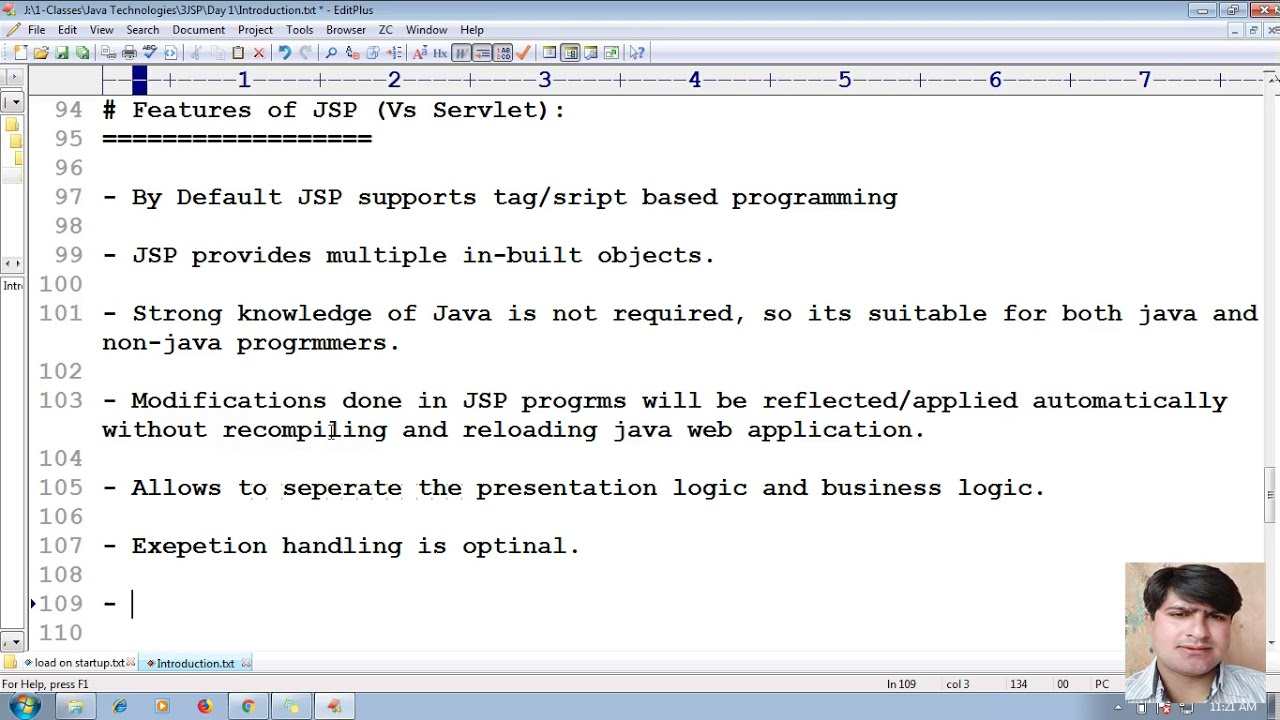 3 Advanced Java JSP Tutorial | Features of JSP | adv java