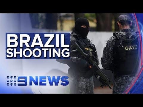 10 killed in brutal Brazil school shooting | Nine News Australia