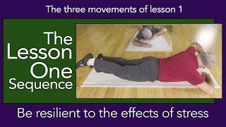 Lesson One 1 Sequence, Become resilient to stress  Somatics for a relaxed back.