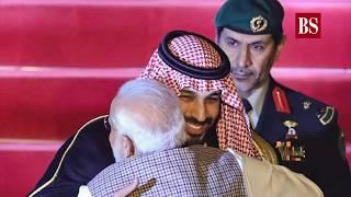 PM Modi receives Saudi Crown Prince with a warm hug at airport