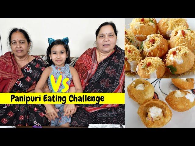 Panipuri Eating challenge in Hindi | #LearnWithPari #Aadyansh
