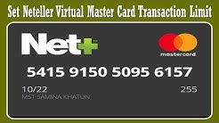 How to Set Transaction Limit on Neteller Virtual Master Card ?