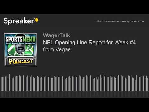NFL Opening Line Report For Week #3 From Vegas (NFL Predictions - NFL Odds)