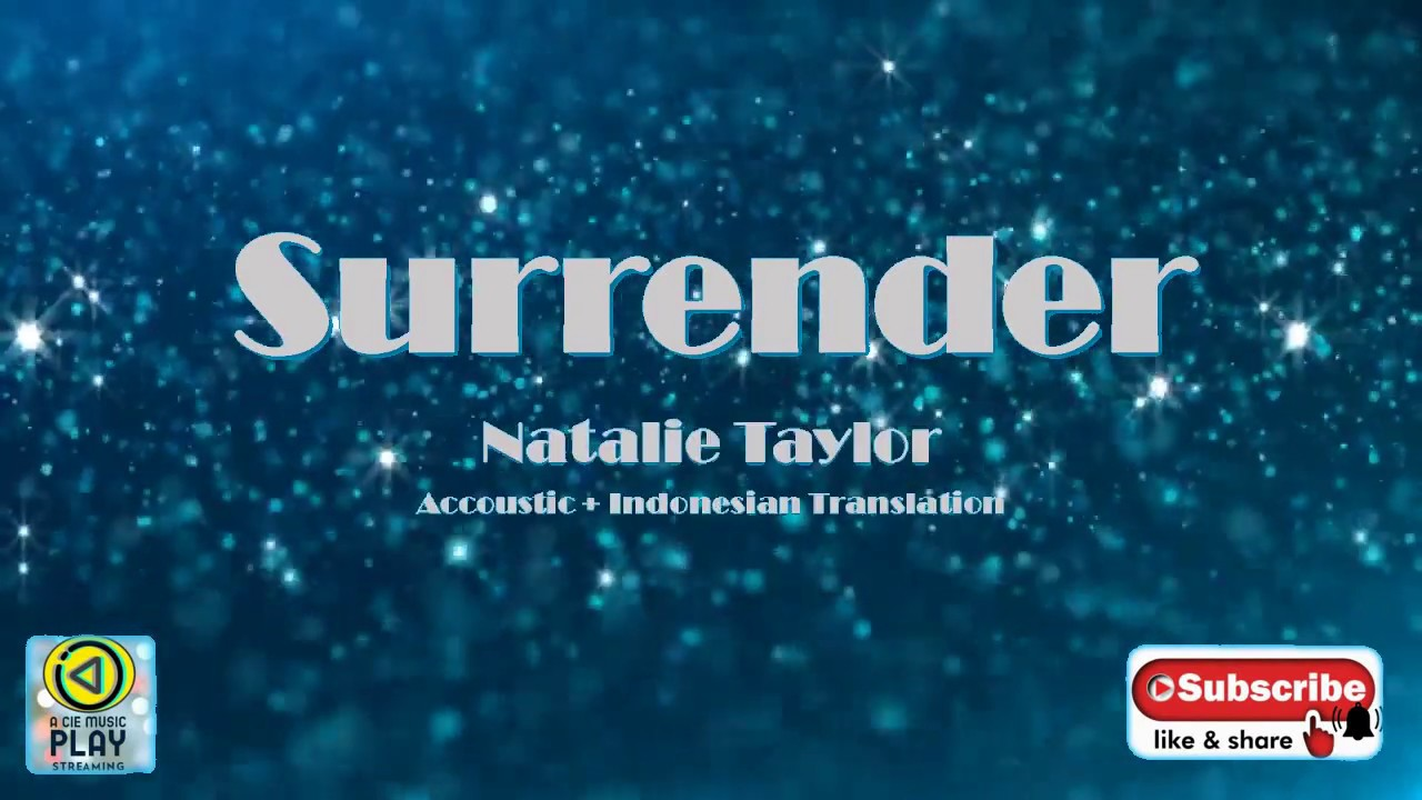 Surrender  by Natalie Taylor Video Karaoke Accoustic