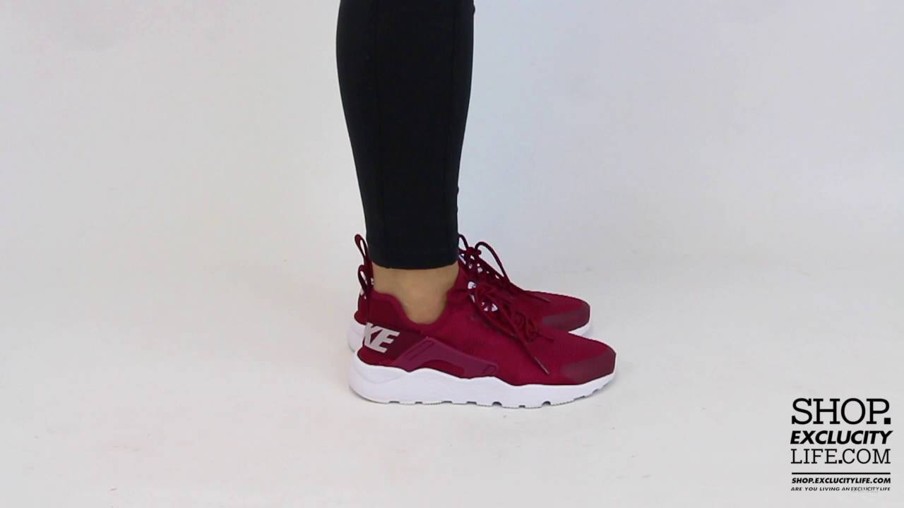 Women s Nike Huarache Ultra Maroon On feet Video at Exclucity - YouTube 60ca8c31cc