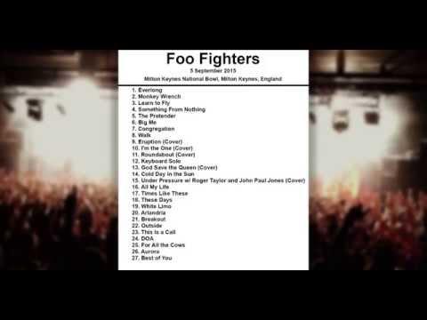 Foo Fighters Setlist - Milton Keynes National Bowl - Milton Keynes - England - 5 September 2015