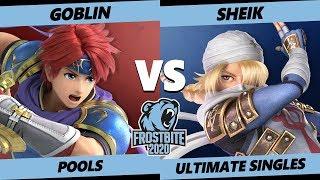 Frostbite 2020 SSBU Pools - APE   Goblin (Roy) Vs. CLG   Void (Sheik) Smash Ultimate Singles