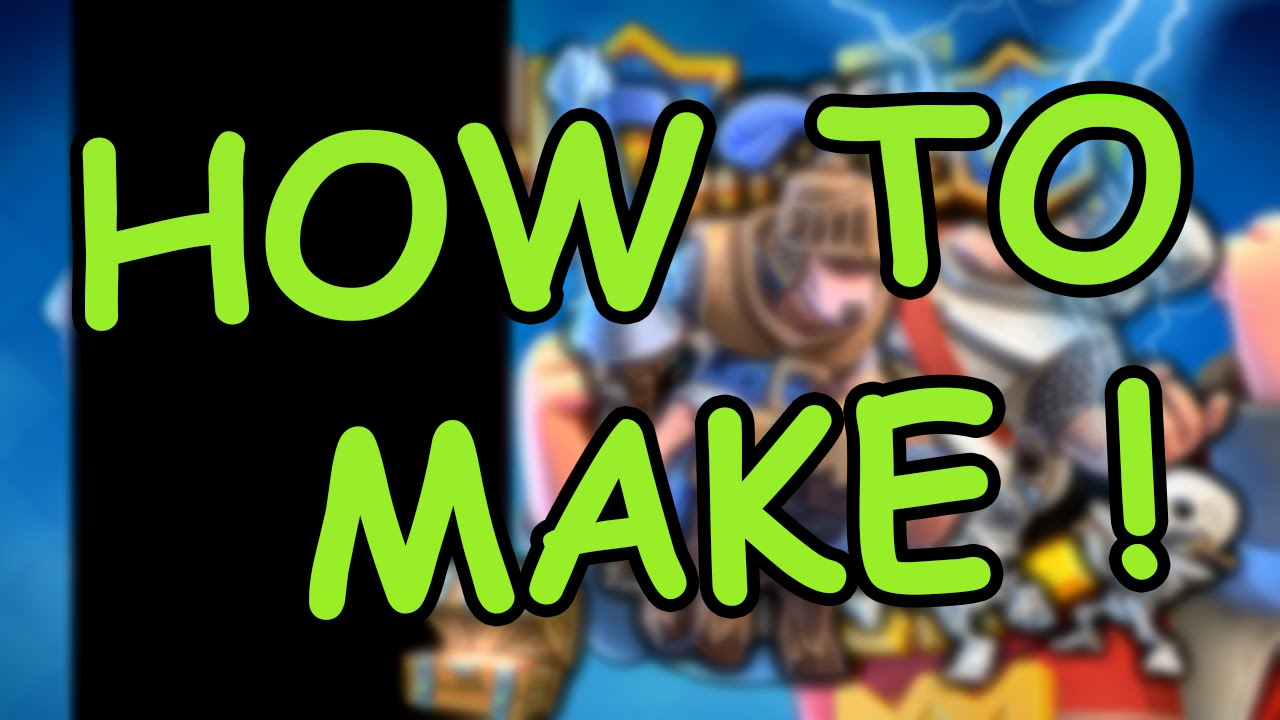 HOW TO MAKE CLASH ROYALE OVERLAY STEP BY STEP EASY PHOTOSHOP 2016 !