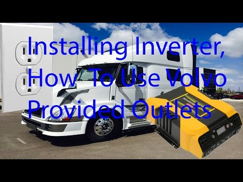 How To Use Volvo Provided Outlets, And Inverter Installation