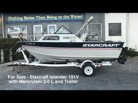 Starcraft Islander 191v Cuddy Cabin Fishing Boat Sold Youtube