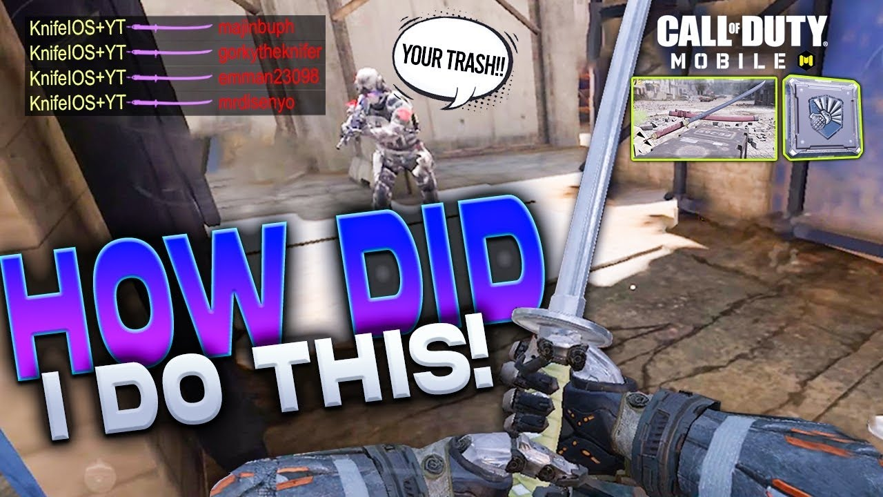 CARRYING *TOXIC* TEAMMATES IN SOLO LEGENDARY RANK S&D! KNIVES ONLY  (shrapnel) | Call of duty mobile