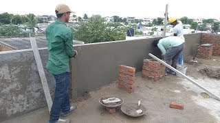 Cement and Sand Construction - How to build Concrete Bed on Parapet Wall