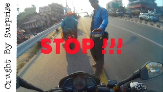 Caught by surprise|Traffic police | Kathmandu to bhaktapur Ride | BisBro | Nepal |
