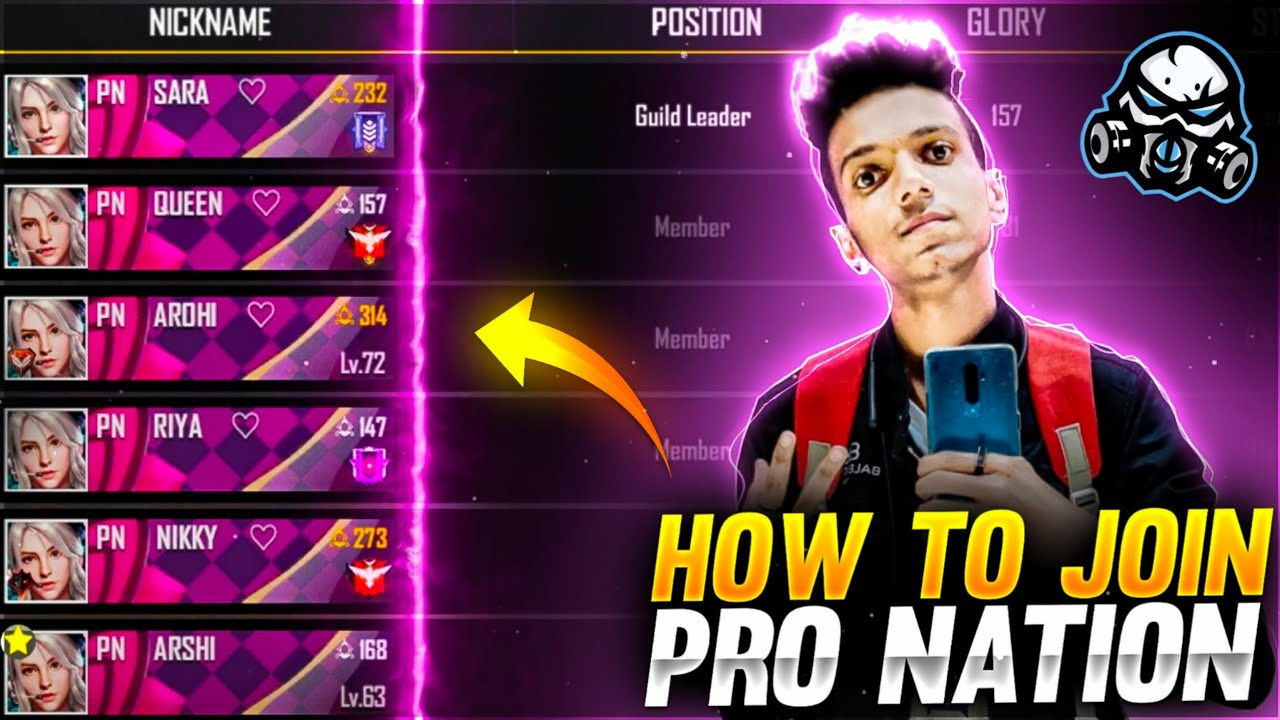 HOW TO JOIN PRO NATION ALL GUILD'S - GARENA FREE FIRE ???