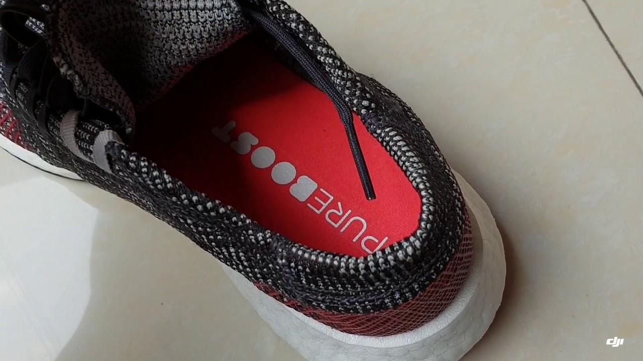 7dae252e62a38 Adidas pureboost go 2018 closer look and on feet - YouTube