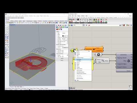Grasshopper in Rhino3d v6 - Make 2D - YouTube