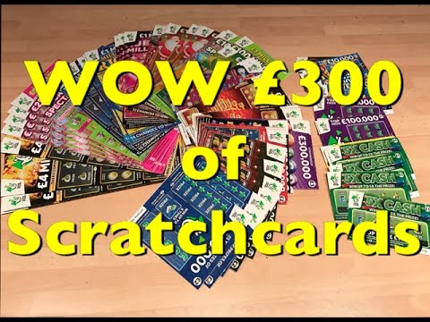 Man wins big on Scratchcard. (Funny reaction)