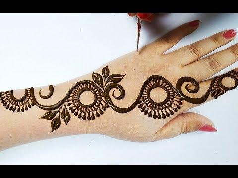 मेहँदी लगाना अब हो गया है आसान - Very Beautiful Mehndi Design on Hands - Easy Mehendi Design