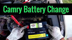 2005 Toyota Camry Battery Replacement 2AZFE - Quick and Easy