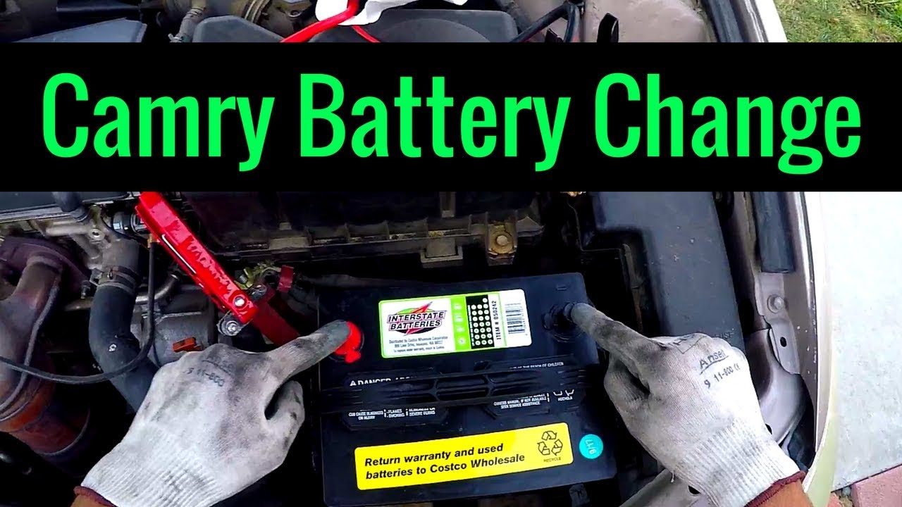 camry toyota battery replacement 2005