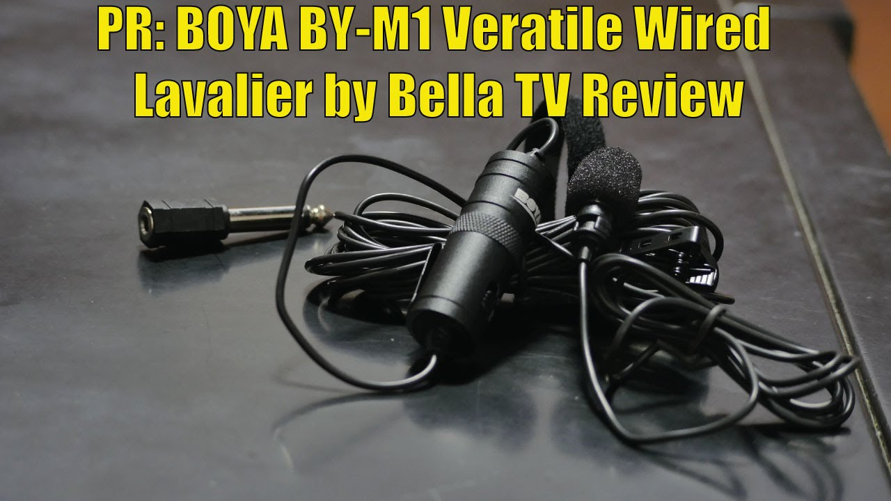 PR: BOYA BY-M1 Veratile Wired Lavalier by Bella TV Review - YouTube