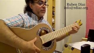 Private video (demo) for Cancion de Amor 2 (by Paco de Lucia) Ruben Diaz flamenco guitar lessons