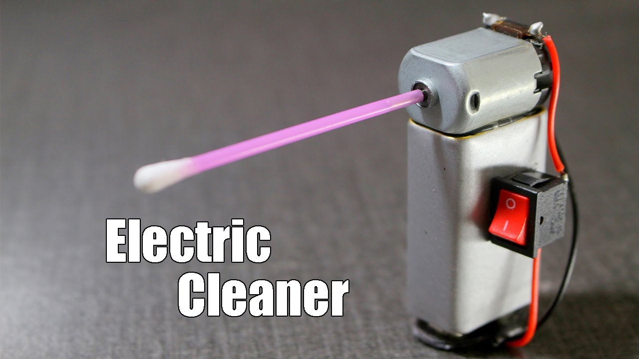 How to Make a mini Electric Cleaner at home - Very Simple - YouTube