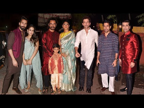 Farhan Akhtar's GRAND Diwali Party 2017 Full Video HD Hrithik Roshan,Aamir Khan,Shahid Kapoor
