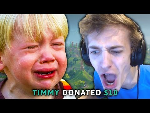 kid donates to ninja... and then this happened...