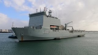 HMAS Choules Visits New Zealand 2014