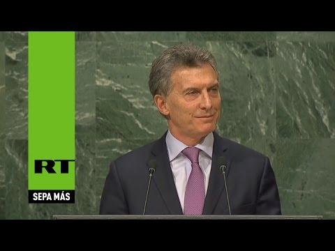 Mauricio Macri, presidente argentino, interviene en la Asamblea General de la ONU (VERSIÓN COMPLETA)