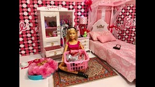Barbie Bedroom Evening Routine!