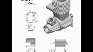 How to Convert 3D to 2D Part In Creo