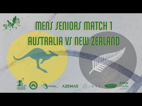 Trans Tasman 2018 - Senior Mens Australia vs Nz Match 1