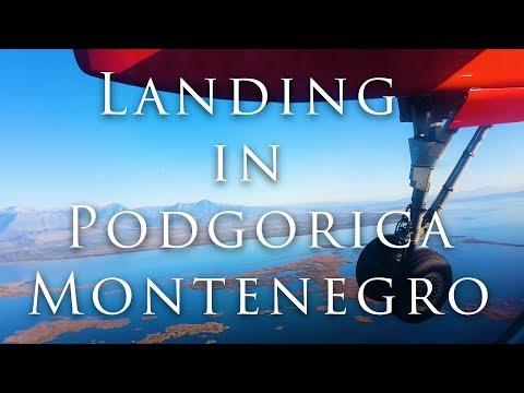 Landing in Podgorica - Montenegro (4K)