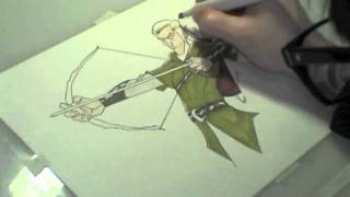 Legolas Time Lapse Drawing