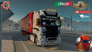 Euro Truck Simulator 2 (1.36)   DAF XF 105 by vad&k v6.9 1.36.x Sardegna Delivery Italy Olbia to Sassari Schwarzmuller Trailer DLC by SCS Software + DLC's & Mods https://forum.scssoft.com/viewtopic.php?f=35&t=223465  Support me please thanks Support me ec