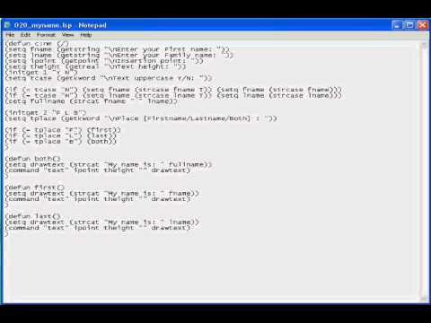 Free AutoCAD Tutorial - How to create AutoLisp with Dialog Box 1/8 -  AutoCAD All Version