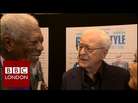 Michael Caine & Morgan Freeman 'Going in Style' interview - BBC London News
