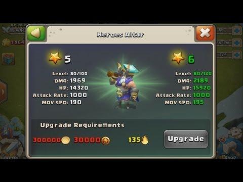 Castle Clash - My 5 Star Hero Thunder God (Upgrading Thunder God)