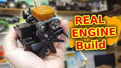 Building a MINIATURE 4 Stroke WORKING Engine