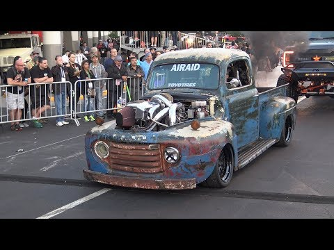 """1949 Ford Pickup """"Old Smokey"""" 1,233 HP, 2,000 lb. ft. torque, 106 PSI Boost, 375 HP shot of Nitrous."""